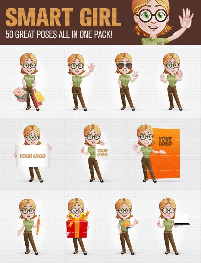 Smart_Girl_Cartoon_Character_Set_50_pose