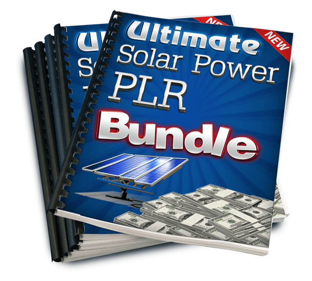 Ultimate Solar Power - PLR Bundle free